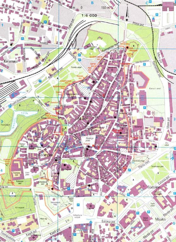 Large map of Tallinn 3