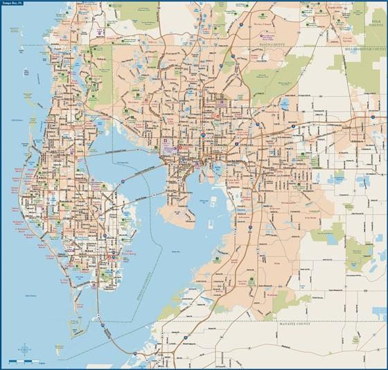 Karte von Tampa 2