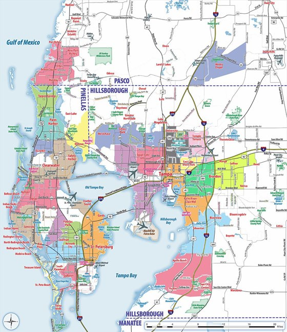 Large map of Tampa 3