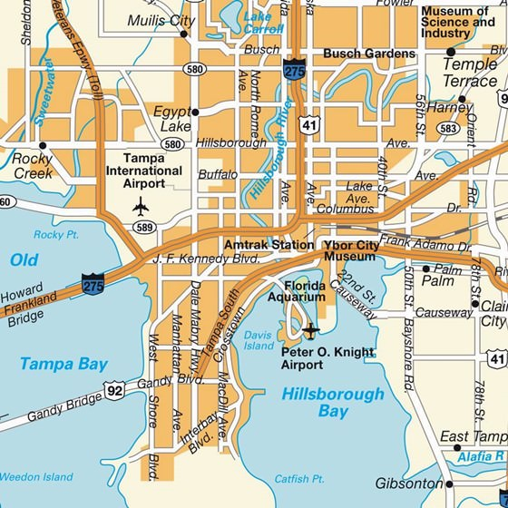 Detailed map of Tampa 4