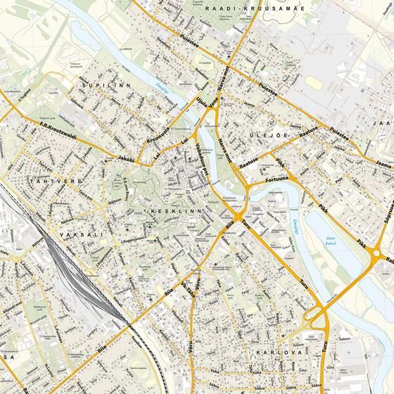 Large map of Tartu 1