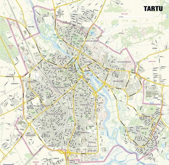 Detailed map of Tartu 2