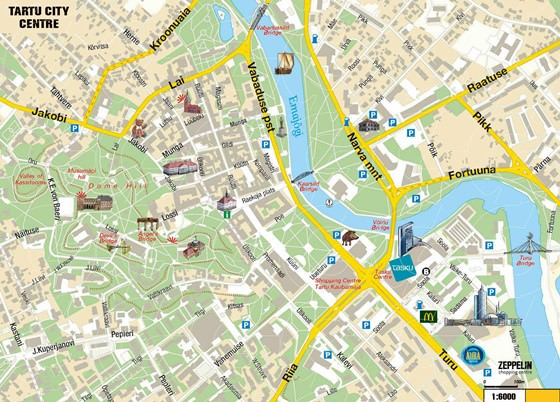 Large map of Tartu 3