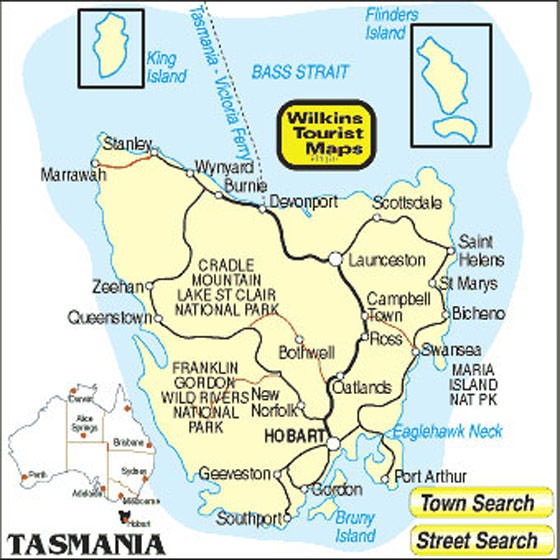 detailed map of tasmania 2