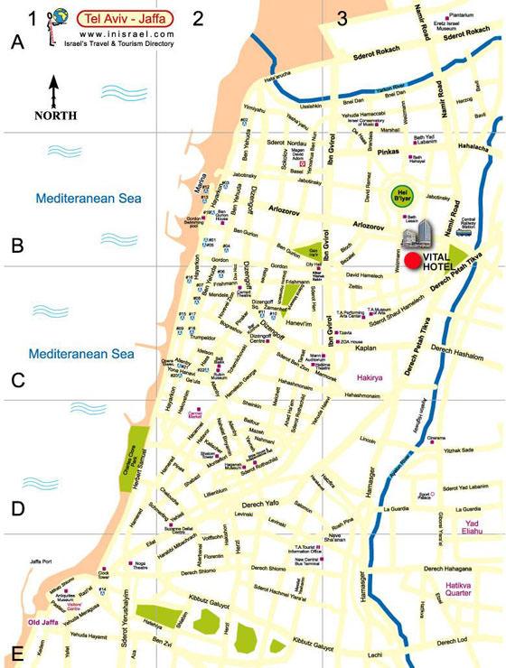 Large map of Tel Aviv 1