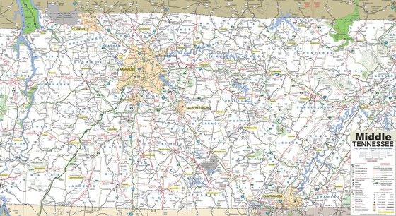 Карта Теннесси 4