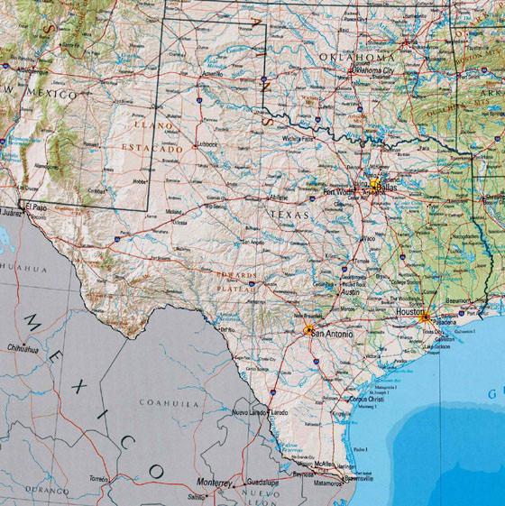 Detaillierte Karte von Texas 2