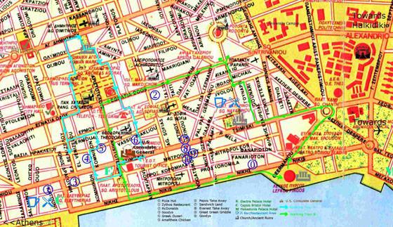 Thessaloniki Karte.Interaktive Karte Von Thessaloniki Sehenswürdigkeiten Finden