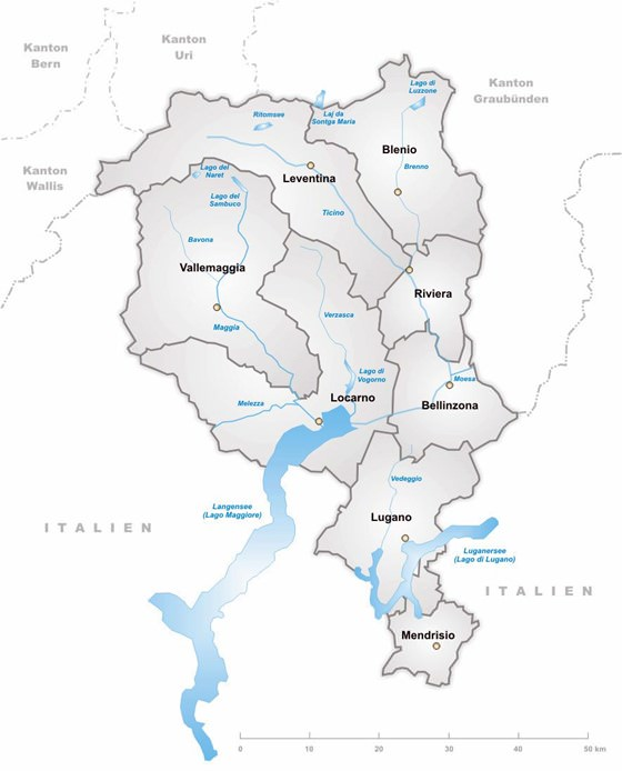 Large map of Ticino 3