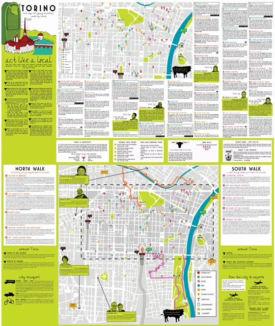 Large map of Turin 1