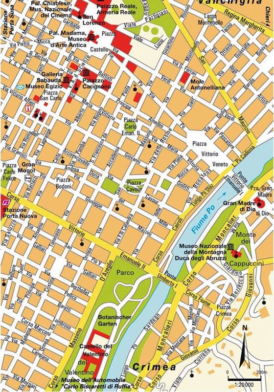 Large map of Turin 3