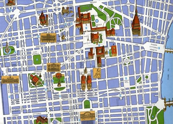 Detailed map of Turin 4