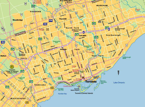 Toronto Bus And Subway Map.Toronto Subway Map For Download Metro In Toronto High Resolution