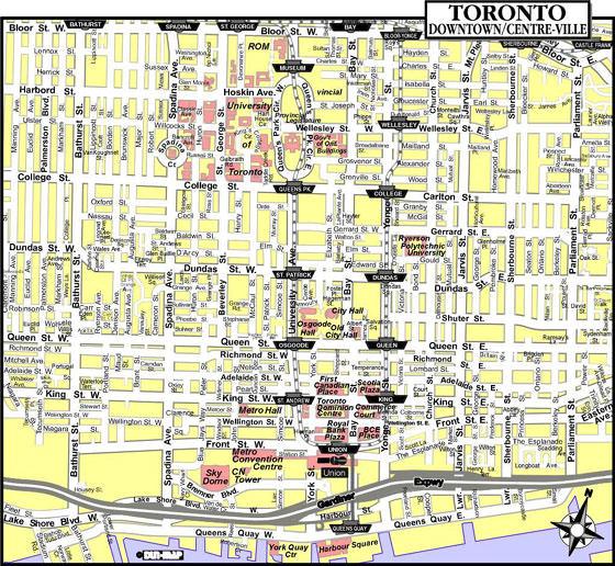 Karte von Toronto 2