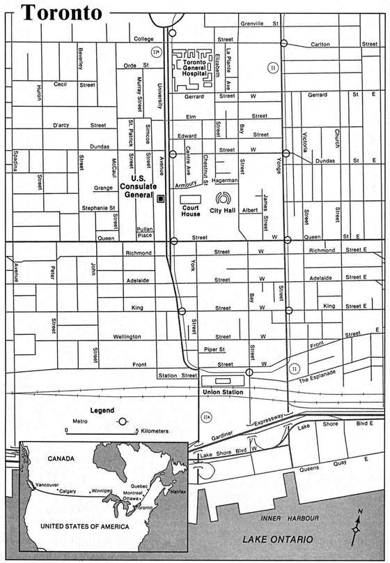 Karte von Toronto 3