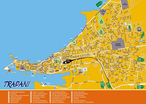 Подробная карта Трапани 2