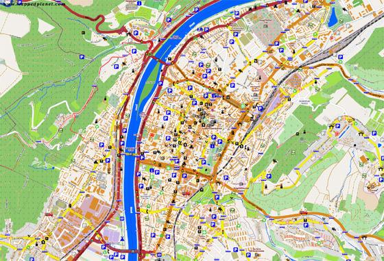 Große Karte von Trier 1