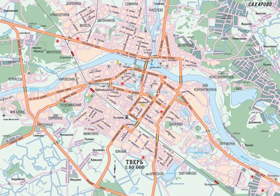 Large map of Tver 1