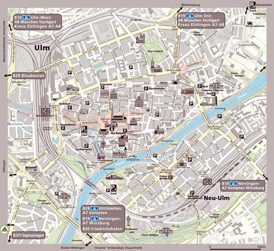 Augsburg Map City