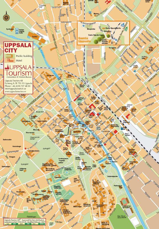 Детальная карта Уппсалы 1