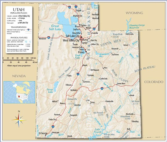 Detailed map of Utah 4