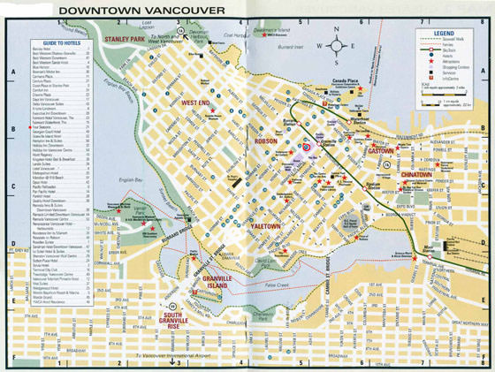 High-resolution map of Vancouver for print or download