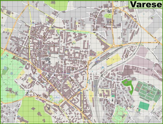 Large map of Varese 1