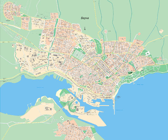 Large map of Varna 1