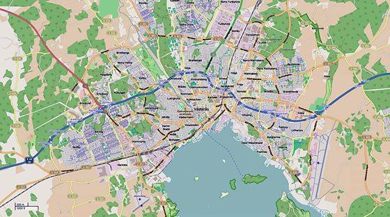 Karte von Västerås 1