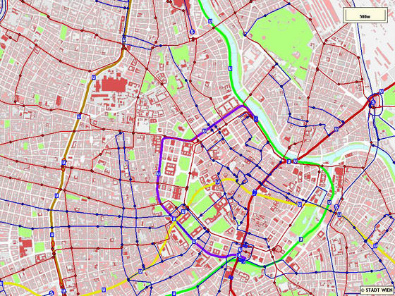 Detailed map of Vienna 2