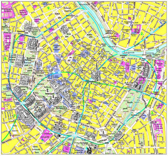 Large map of Vienna 3