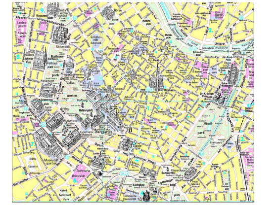 Detailed map of Vienna 4