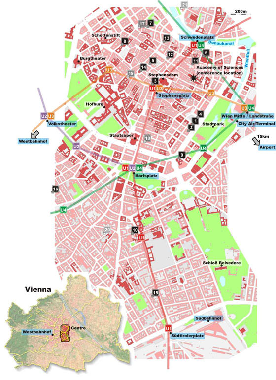 Large map of Vienna 5