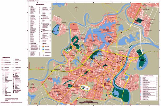 Große Karte von Villahermosa 1