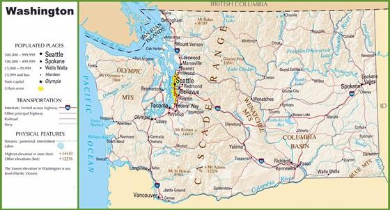 Karte von Washington 3