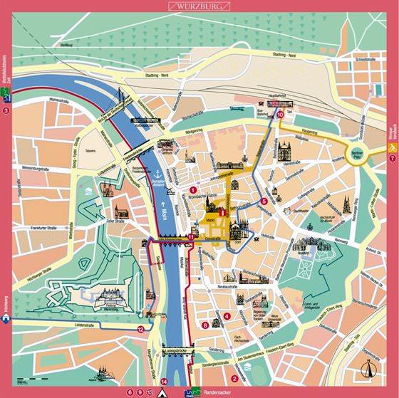 Gran mapa de Wurzburgo 1