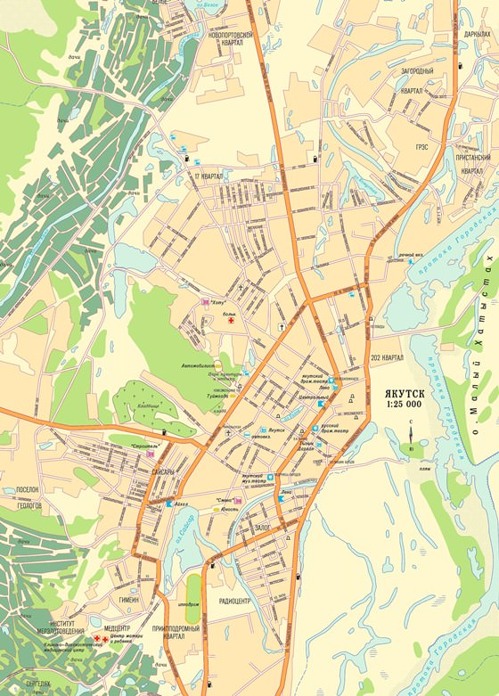 Large map of Yakutsk 1