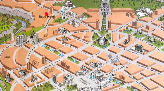 Große Karte von Jerewan 1