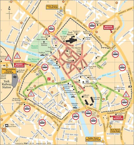 Große Karte von York 1