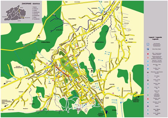 Large map of Zakopane 1