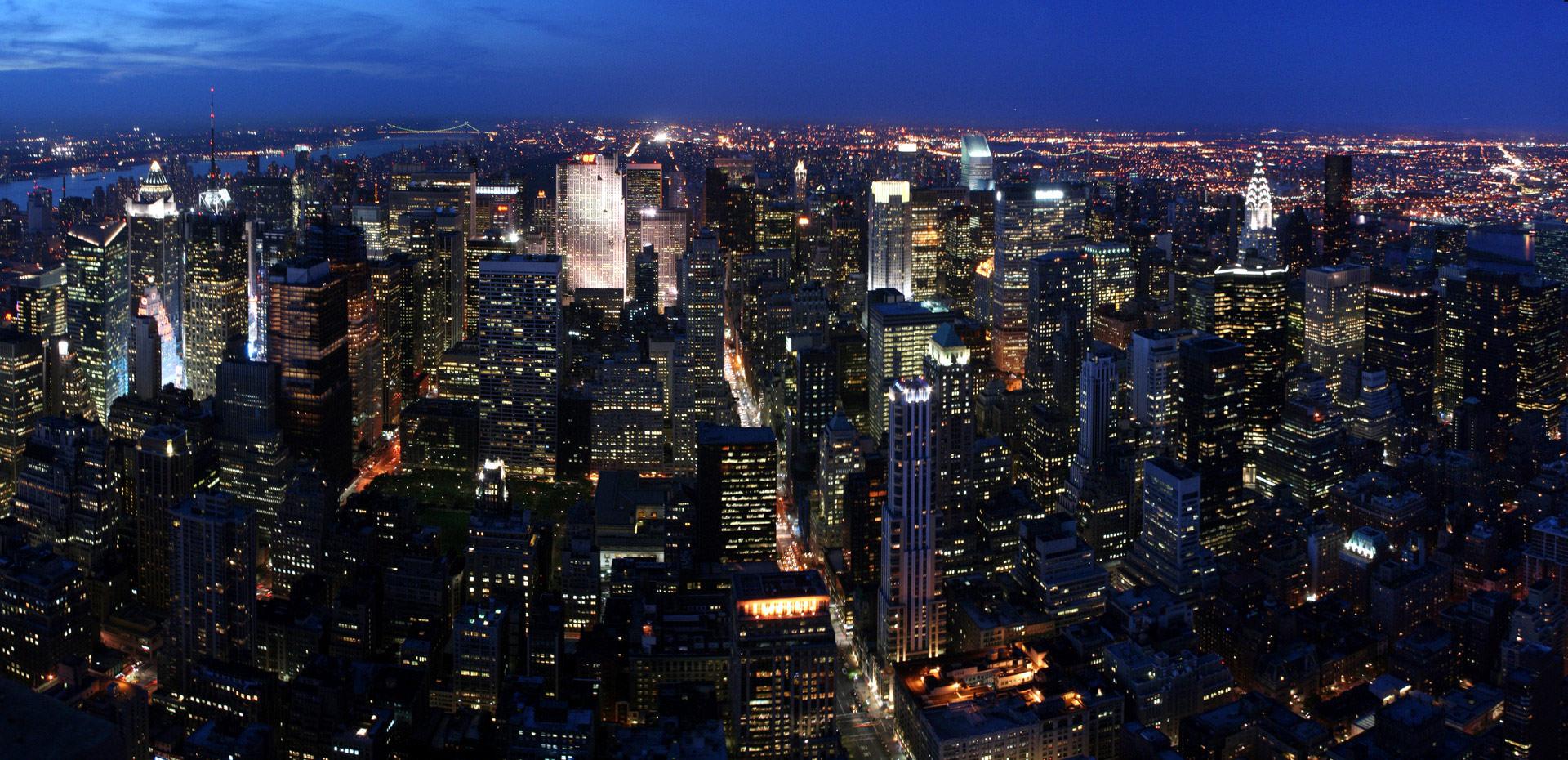 Панорамное фото нью йорка