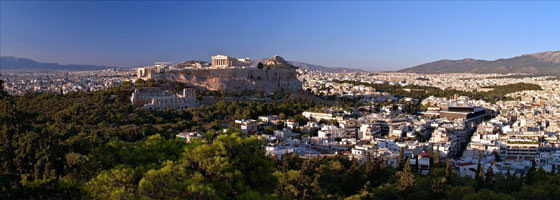 Foto panorámica de Atenas