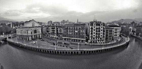 Foto panorámica de Bilbao