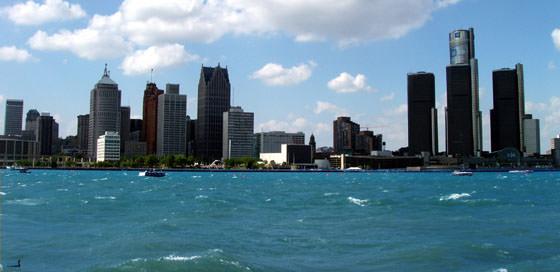 Foto panorámica de Detroit