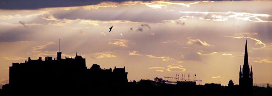 Foto panorámica de Edimburgo