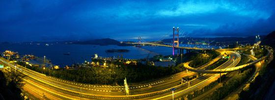 Foto panorámica de Hong Kong