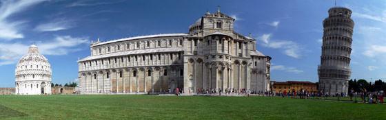 Foto panorámica de Pisa