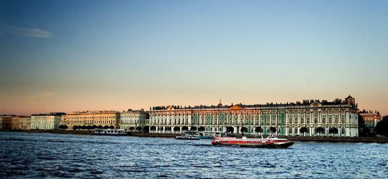Foto panorámica de San Petersburgo