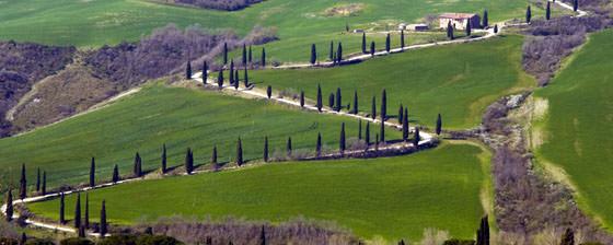 Панорамное фото Тосканы