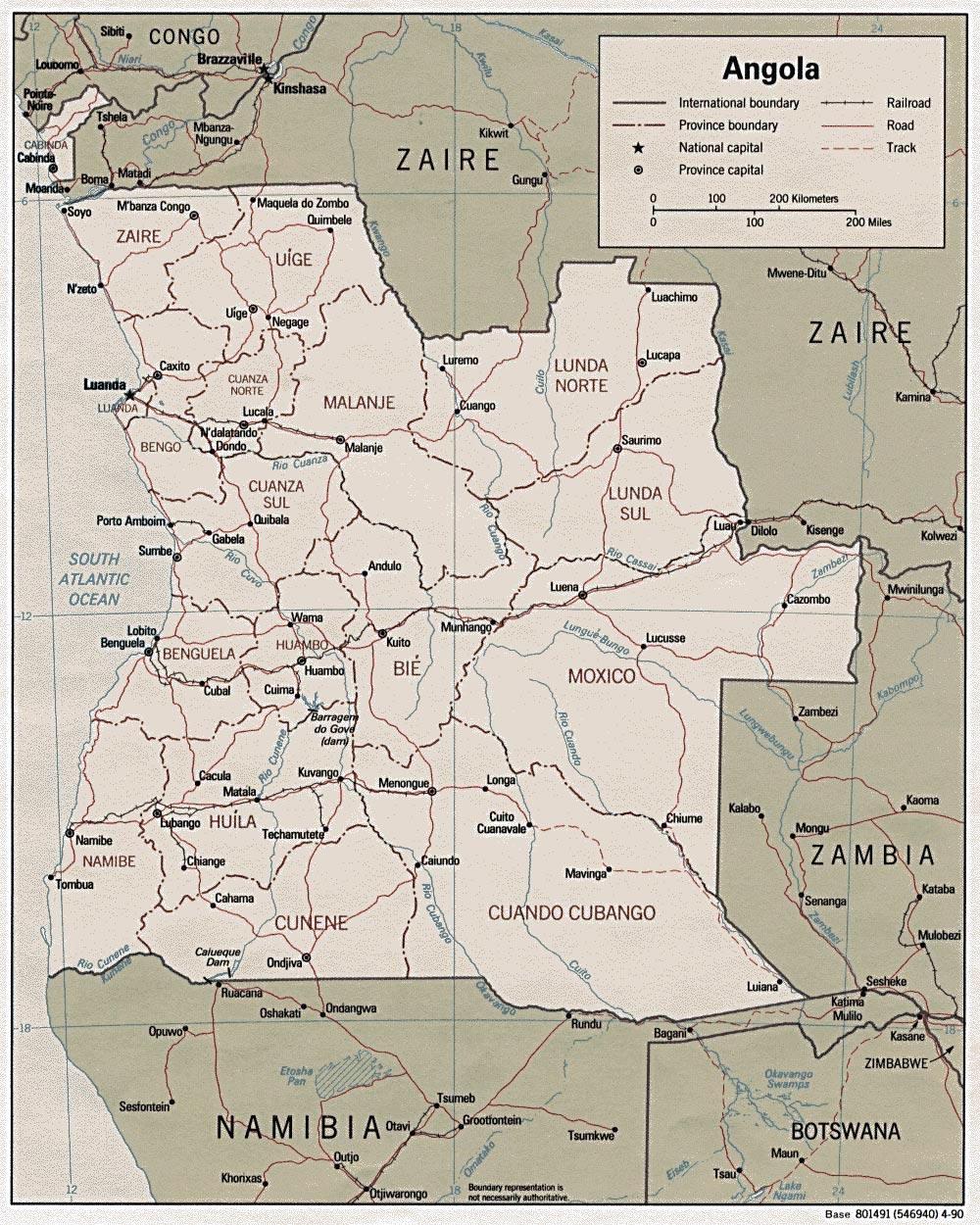 Angola Maps Printable Maps Of Angola For Download - Angola map